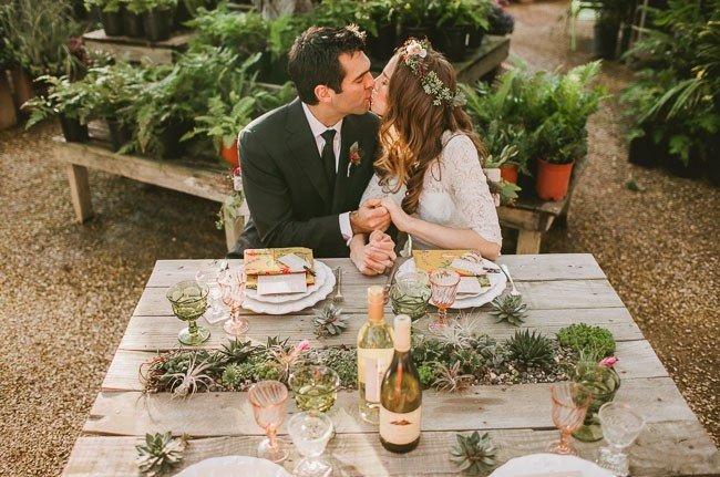 свадьба в оранжерее